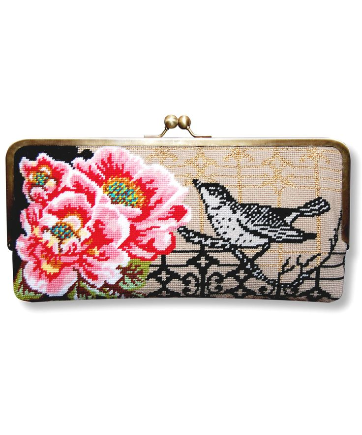 Bird and Peony Needlepoint clutch bag kit from Liberty of London.