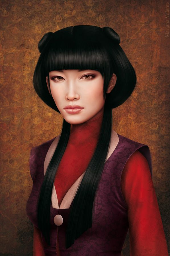 This is a character (Mai) from the Avatar series. This portrait was done based on her being a real person.