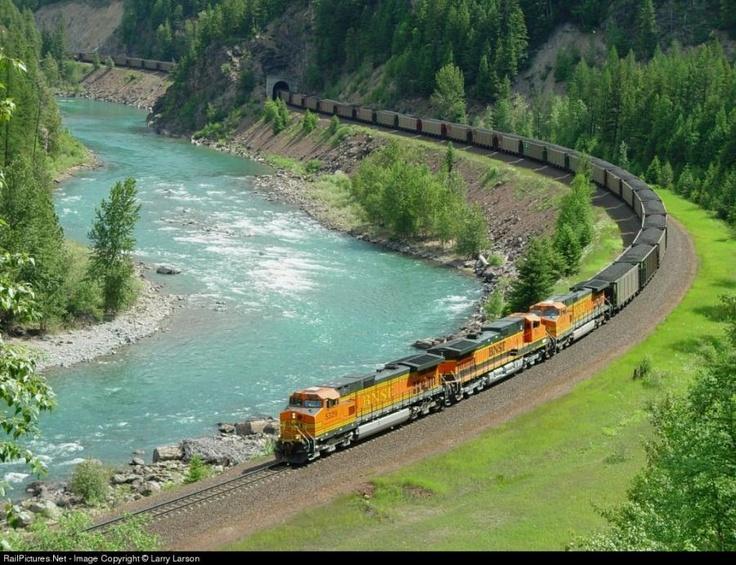 *Burlington Northern Santa Fe train