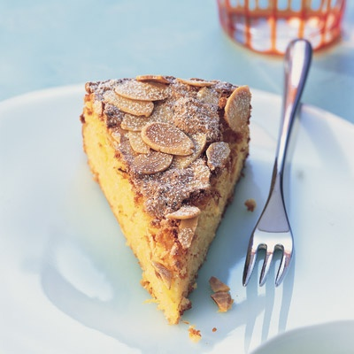 Spanish orange and almond cake - Made with whole oranges - simmered until very tender and then finely chopped - and ground almonds, this classic Spanish cake has a moist, light texture and a wonderful fresh flavour. A light dusting of icing sugar just before serving adds a pretty touch | Find tasty recipes at www.readersdigest.com.au