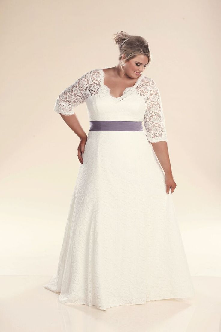 Best 25 plus size wedding ideas on pinterest plus size wedding plus size wedding dress with sleeves ombrellifo Image collections