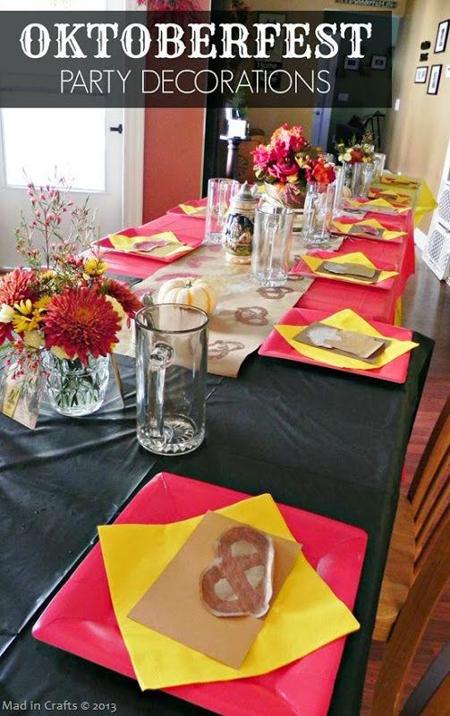 Homemade Oktoberfest Party Decorations http://www.oktoberfesthaus.com