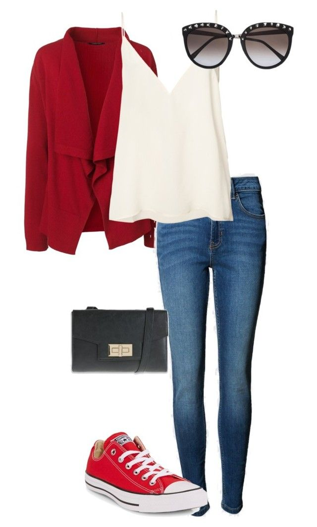 """""""Evening casual"""" by amooshadow on Polyvore featuring Lands' End, Anine Bing and Converse"""