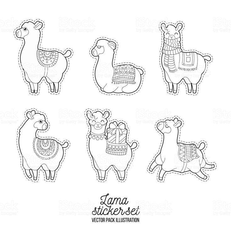 ava coloring pages | Cute llama and alpaca for adult coloring pages. Patches ...