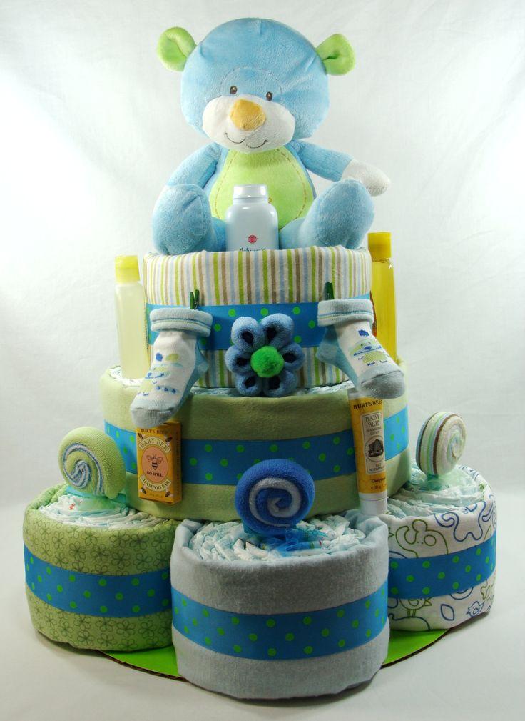 King size boy diaper cake!