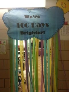 100th Day door decoration. ❤️