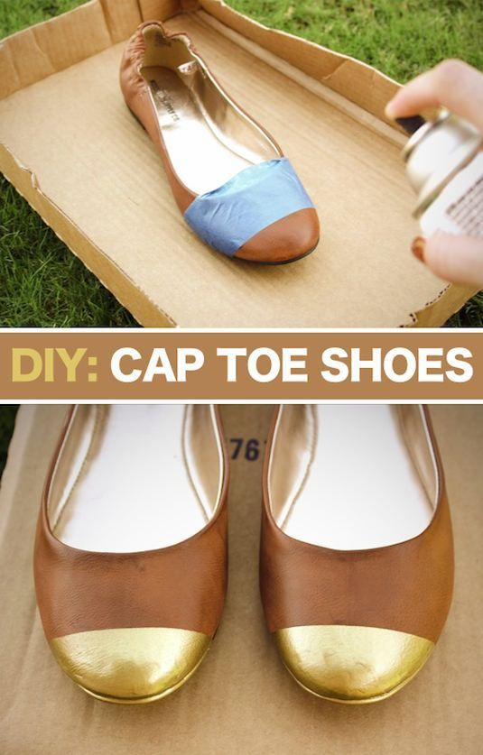 Make Your Own Cap Toe Shoes | 31 Clothing Tips Every Girl Should Know