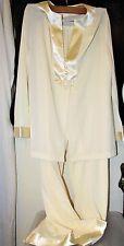 Vintage NOS 2pc Gossard Artemis Pajamas 36 Lingerie Hostess Satin Applique Nylon
