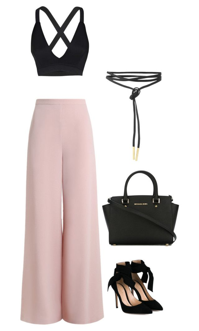 """Untitled #583"" by madelin-ruby ❤ liked on Polyvore featuring Zimmermann, Gianvito Rossi, Boohoo and MICHAEL Michael Kors"