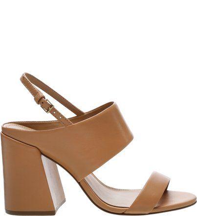 11d719b0a Sandália Check Mate Couro Bianco em 2019 | sapatos | Heeled mules ...