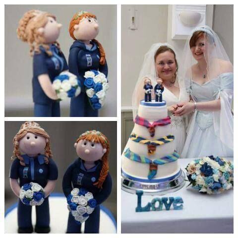 Civil ceremony / Wedding cake toppers, fully personalised and handcrafted from polymer clay.