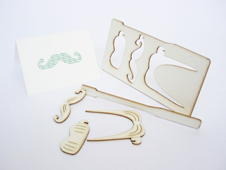 Pop out card - MOUSTACHE | Popoutcardcompany | kaartfanaat