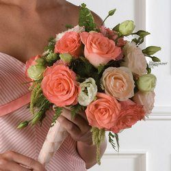 wedding flowers - coral