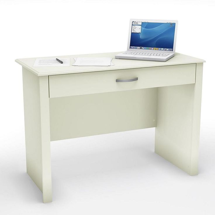 Computer Desk White Writing Modern Home Office Furniture Storage Drawer Table…