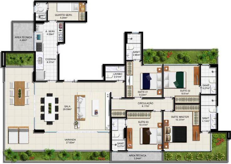 Panorama Residências da Barra possui apartamentos à venda em Salvador de 4 quartos na Ladeira da Barra, a poucos metros do Yacht Clube.