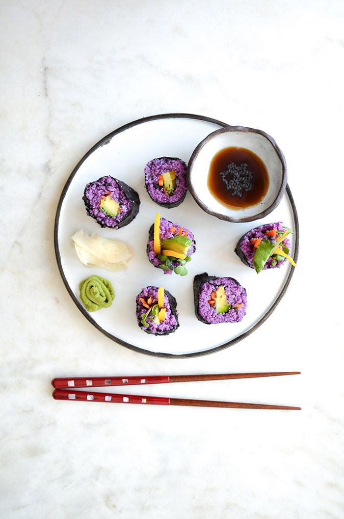 Learn how to make this tasty (and gorgeous!) rainbow paleo sushi