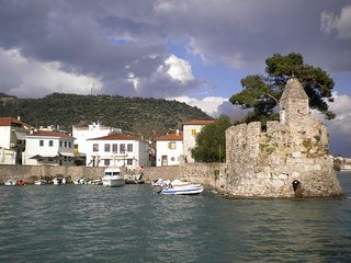 Old harbour at Nafpaktos, Greece. Find out more at http://www.blogtravels.gr/
