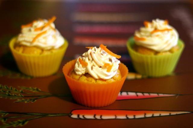 Cupcakes aux Carottes et épices