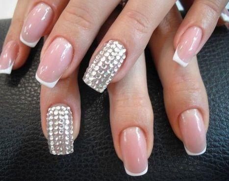 French ! #maniqure #infrench #nails #glitter #style #nailsart #nails2013 #style #beauty #loveit #french #frenchstyle #strass #nails2013style #yay #design #art #stuff #artstuff #girlystyle #classy #sassy #elegant
