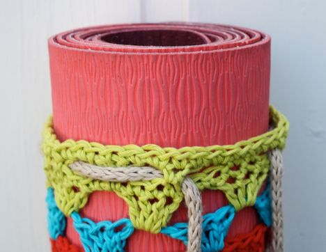 Free Crochet Pattern Yoga Mat Bag : Yoga mat bag by pickles.no, via Flickr why i love ...