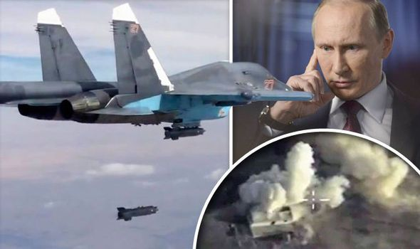 More than 70% SUPPORT for Vladimir Putin's bombing campaign despite Middle East tensions. VLADIMIR Putin's intense campaign of airstrikes in Syria has the support of more than two in every three Britons, according to an exclusive Express.co.uk poll.