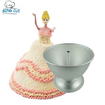 Lovely Girl Doll Dress Cake Mold 8 Inch Aluminum Alloy Candy Chocolate Fondant Tool Cake Decorating Moulds