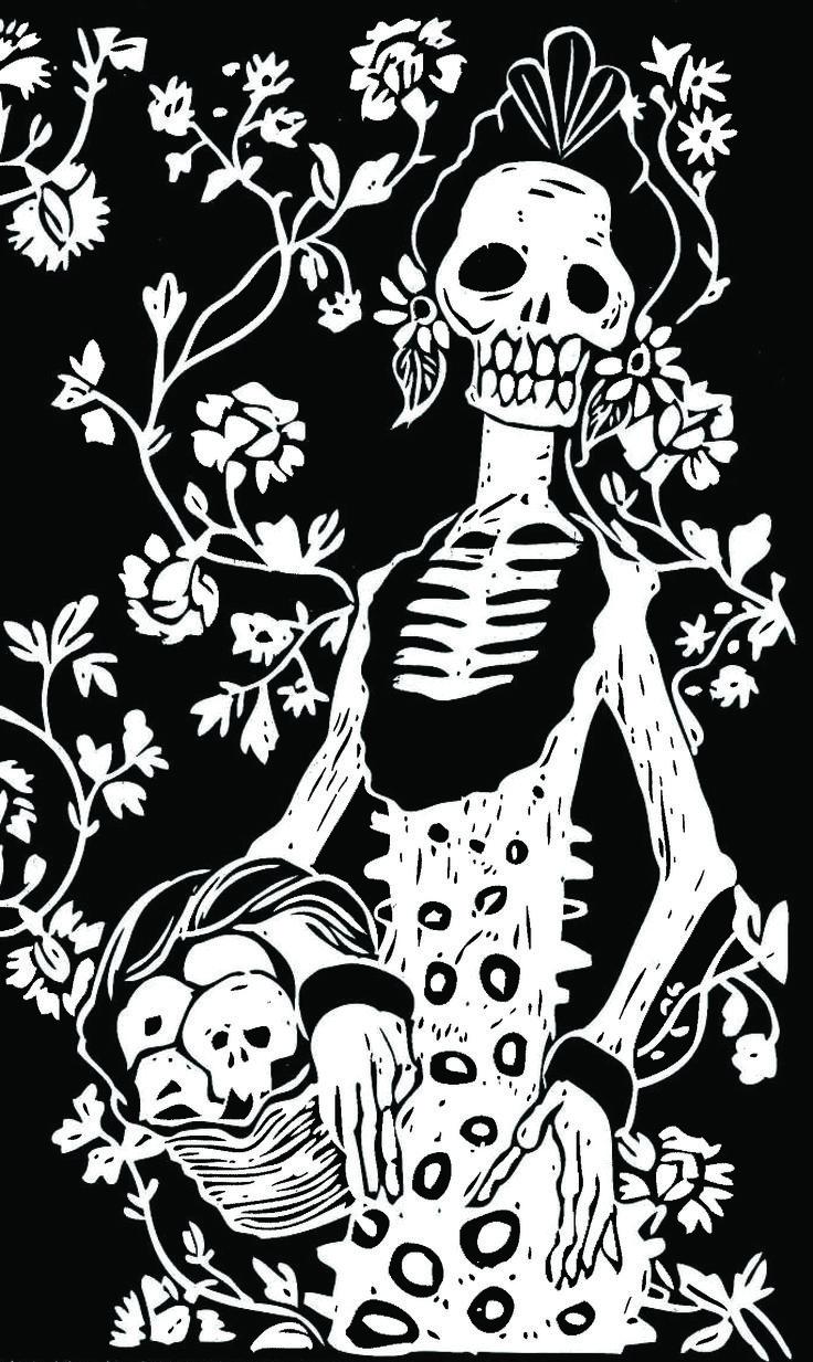 164 best dia de los muertos black and white art images on