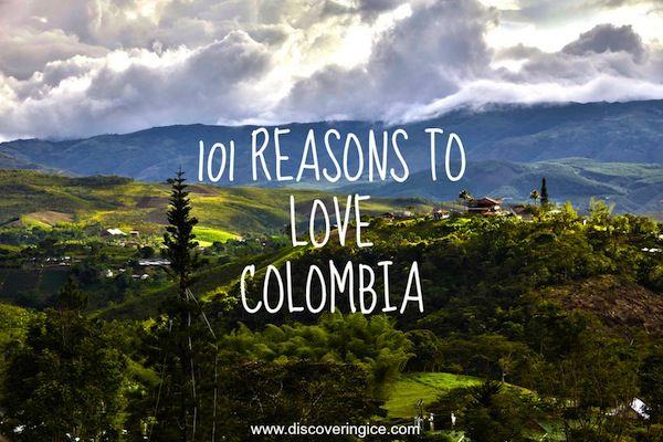 Una calena da cuenta de sus razones por amar a Colombia - y tiene muchisima razon! I teared up reading this list...wow!