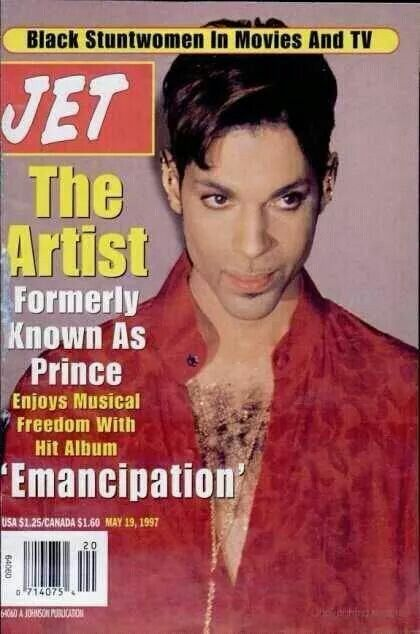 Jet magazine cover artist formerly known as Prince