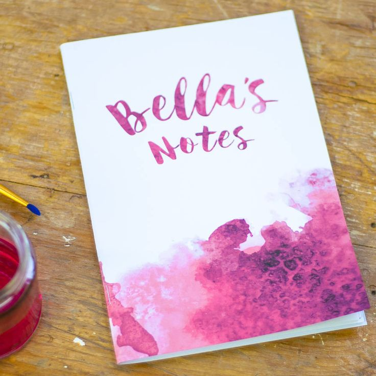 Personalised Watercolour Notebook – Little Pieces