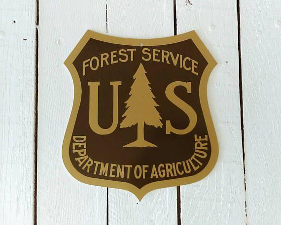 US Forest Service Logo, Tin Metal Sign, National Park Service