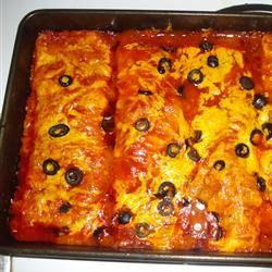 Enchiladas (Pioneer Woman Recipe) pretty much all I ever want to eat. I LOVE enchiladas! They're a common dish whenever I visit my great grandmas house!