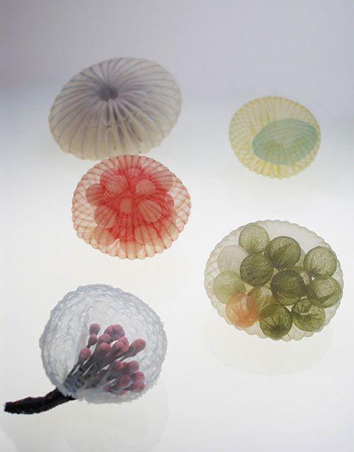 Mariko Kusumoto Brooches: Untitled, 2014 Polyester, silk, thread, silver