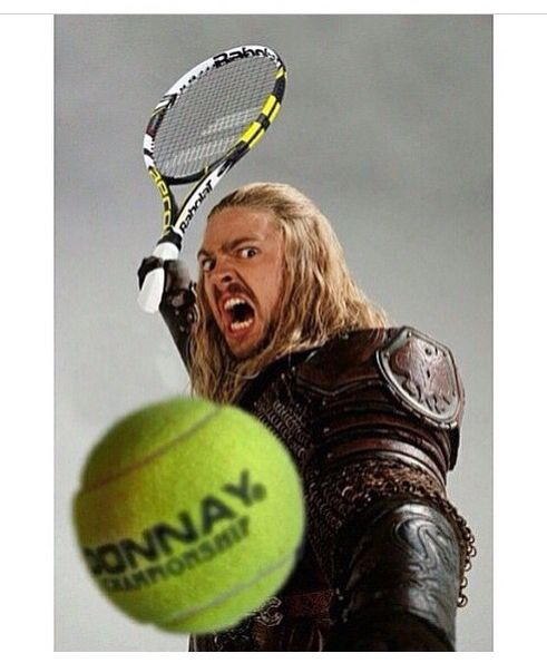 WHYYYYYYYYYYY /// Credit to a user on Instagram. <<this is hilarious. You get that tennis ball Eomer.