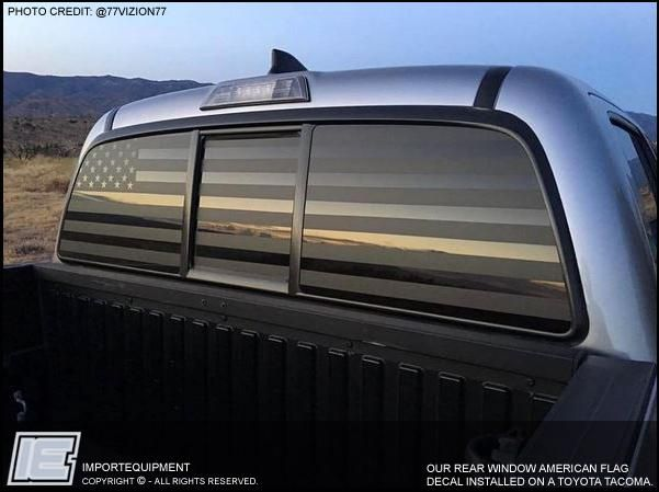Custom American Flag Rear Window Decal Choose Your Size Chevy Trucks Custom Trucks Rear Window Decals