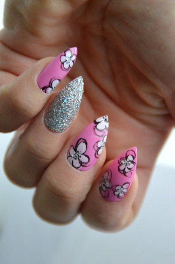 307 best nail art nail care tips images on pinterest nail art nails are to be done with great care especially when you are doing yourself you can paint a flower on your nail by different methods and types solutioingenieria Image collections