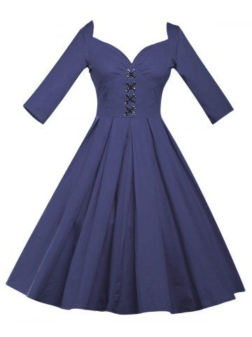 GET $50 NOW   Join RoseGal: Get YOUR $50 NOW!http://www.rosegal.com/vintage-dresses/lace-up-bowknot-vintage-swing-974862.html?seid=2275071rg974862