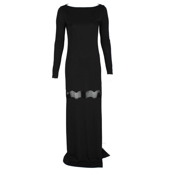 #galliano #johngalliano #marinamall #greenbird #couture #abudhabi #abudhabistyle #abudhabifashion #abudhabistyle #dubai #dubaifashion #dubaistyle #womenswear #fall2013 #winter2014 #fw2014 #prefall #dress #longdress #longsleevedress #black #eveningwear #conservative