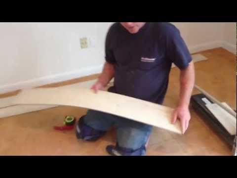 How To Install A Floating Vinyl Plank Floor - YouTube