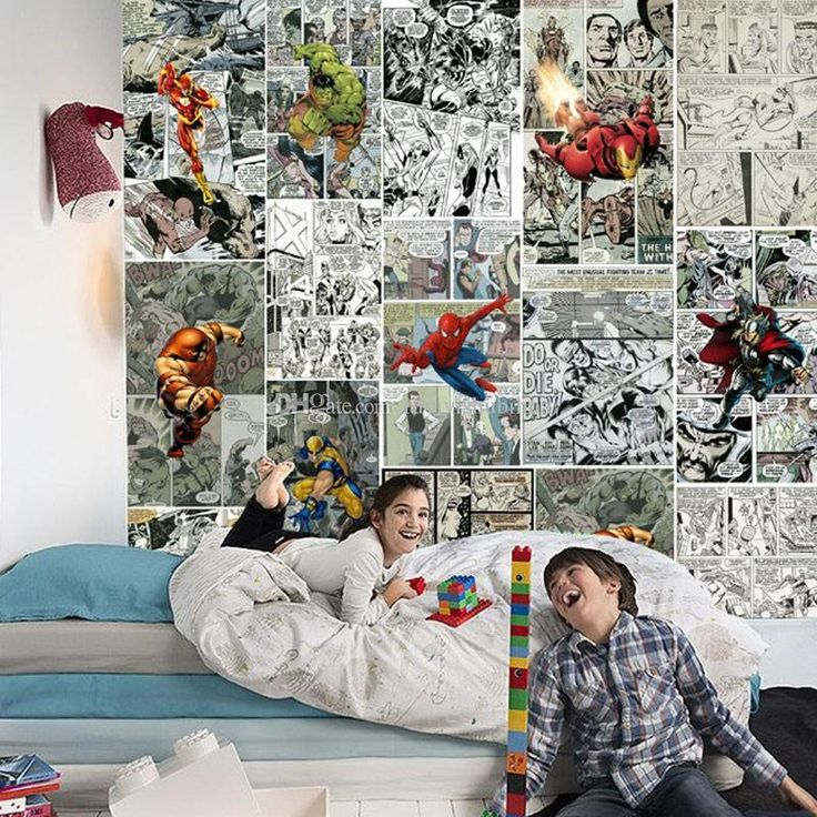 Marvel Comics Wallpaper 3D wallpaper for walls Mural Kids Bedroom Room Decor TV background wall covering Super Hero Wallpaper