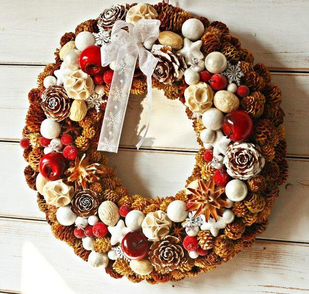 Wieniec na Boże Narodzenie, wianek świąteczny - BIALA-KOMODA - Wieńce adwentowe