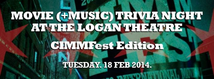 Movies (+music) trivia night at The Logan Theater #CIMMFest style! Let's get it! Come out and join! #music #movies #fun #gamenight