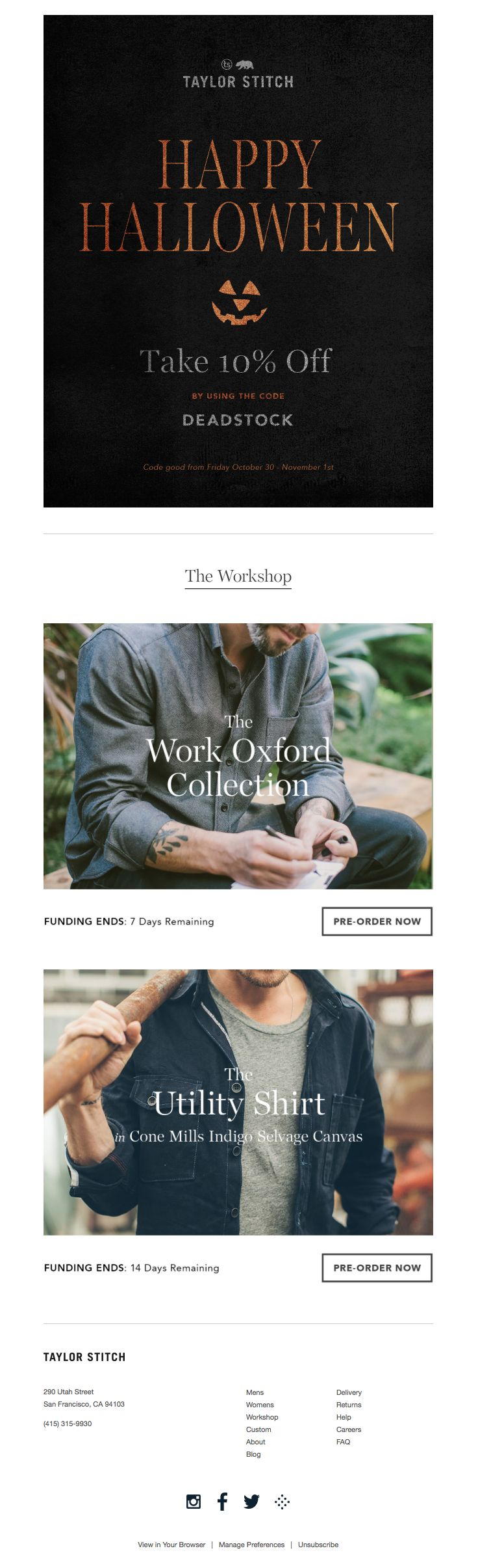 92 best emaillayout images on pinterest email newsletter design taylor stitch sent this email with the subject line a little treat to go with fandeluxe Image collections