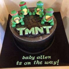 TMNT Baby Shower   Teenage Mutant Ninja Turtles Baby Shower Cake
