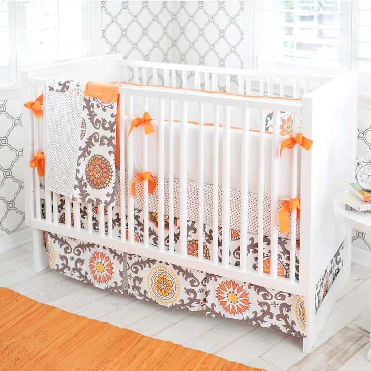 new arrivals ragamuffin in tangerine baby bedding orange brown crib bedding