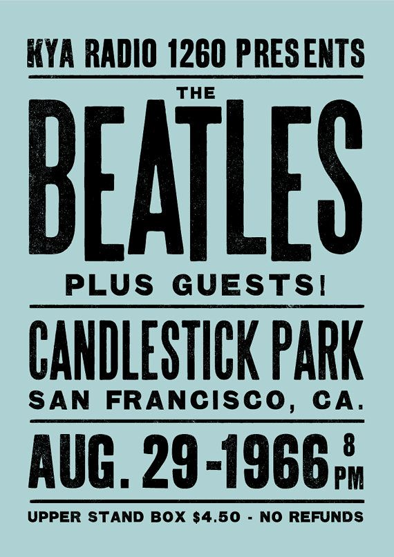 The Beatles concert poster The Beatles art print by TheIndoorType