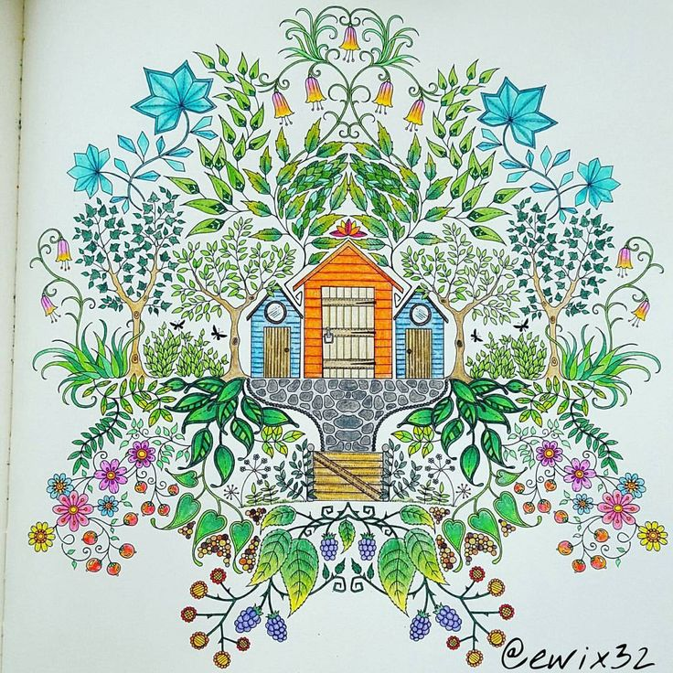 Secret Garden Colouring Book By Johanna Basford