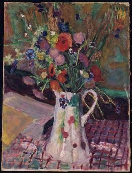 Bouquet de fleurs des champs - Bonnard Pierre, 1914 .Musée Albert-André Hôtel de Ville, Bagnols-sur-Cèze, France #bonnard