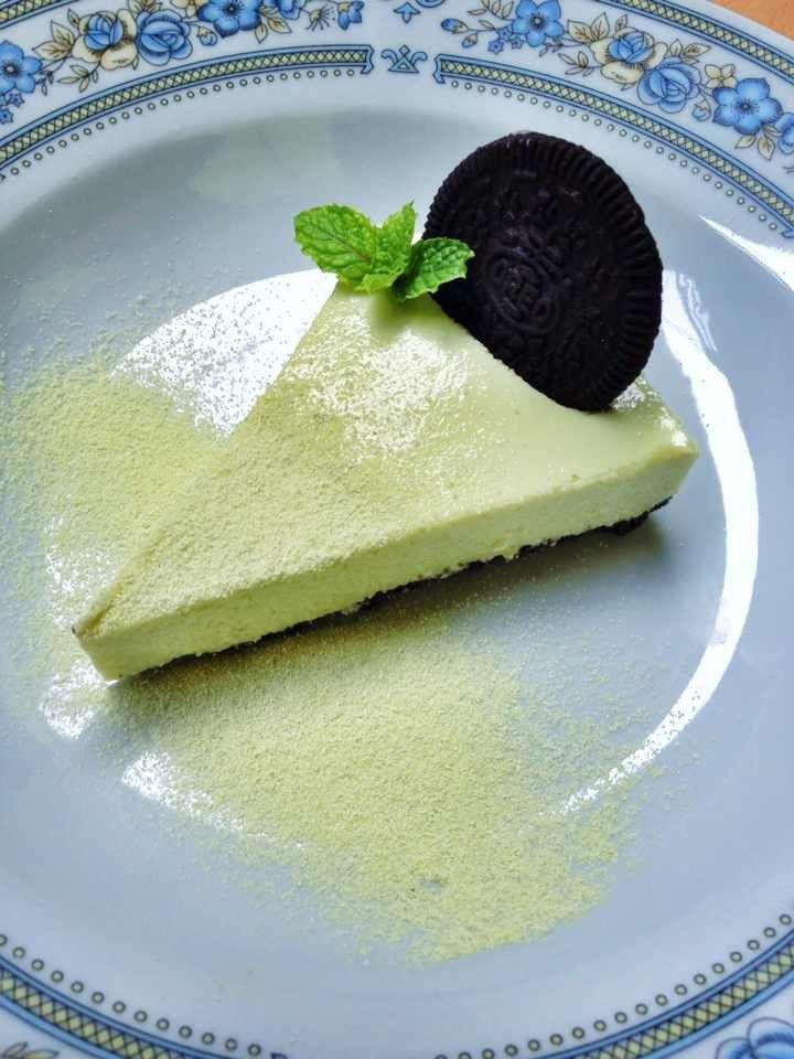 Greentea cheese cake