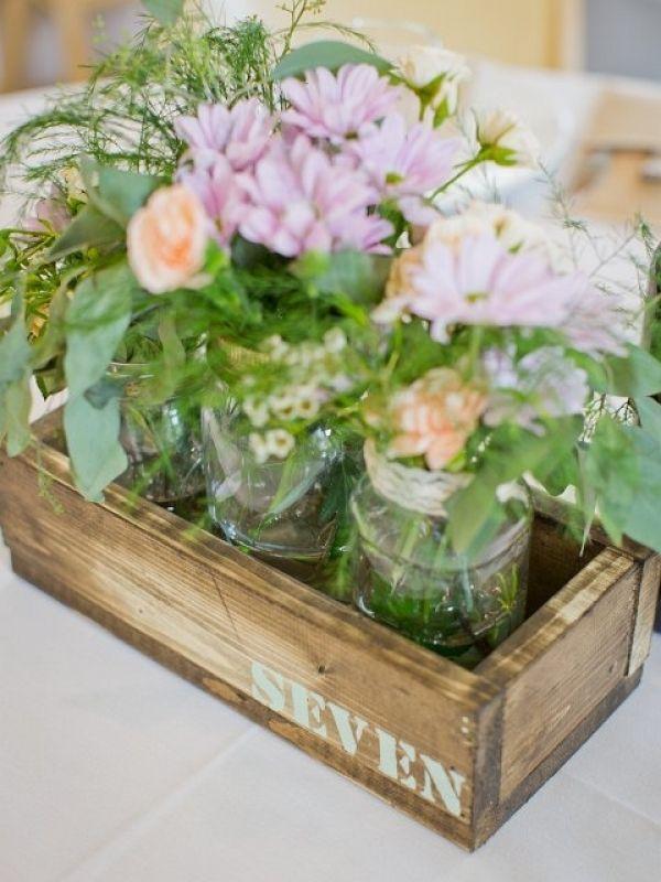 Diy wooden box centerpieces wedding ideas pinterest